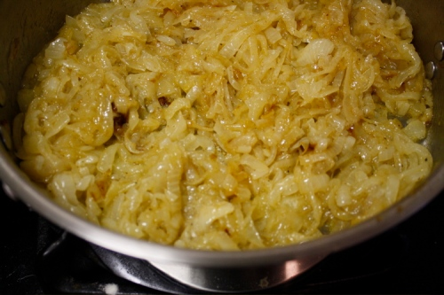 caramelized onion dip-cooking 4